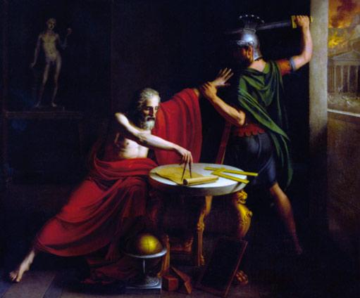 Cuadro de la muerte de Arquímedes