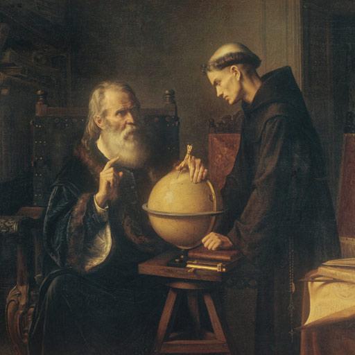 Galileo demostrando una teoría en la Universidad de Padua