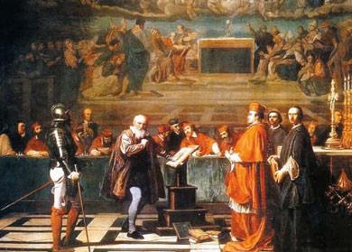 Galileo en un juicio eclesiástico