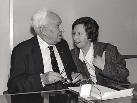 Margarita Salas con Severo Ochoa