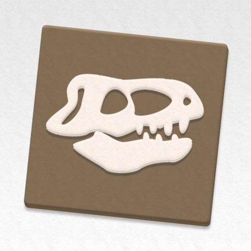 Fósiles de dinosaurio de goma eva
