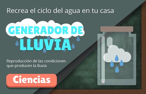 Generador de lluvia: experimento de meteorología