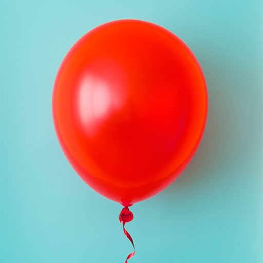 Gran globo rojo