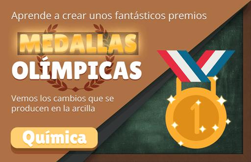 Medallas Olímpicas: experimento con arcilla